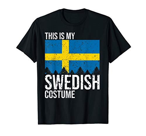 Vintage This is my Swedish Flag Costume Shirt For Halloween (Kids Swedish Costume)