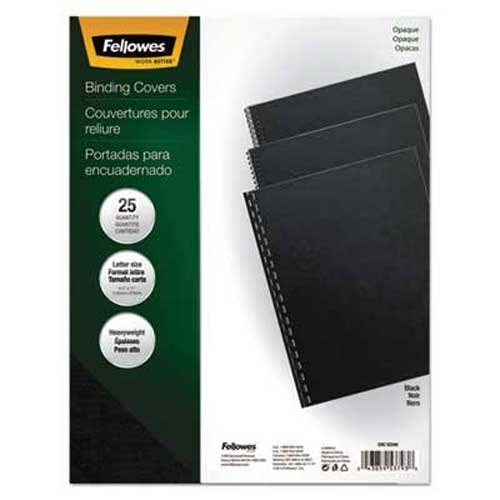 Fellowes Futura Binding System Covers, Square Corners, 11 x 8 1/2, Black, 25/Pack (11 Unpunched 25 Covers)