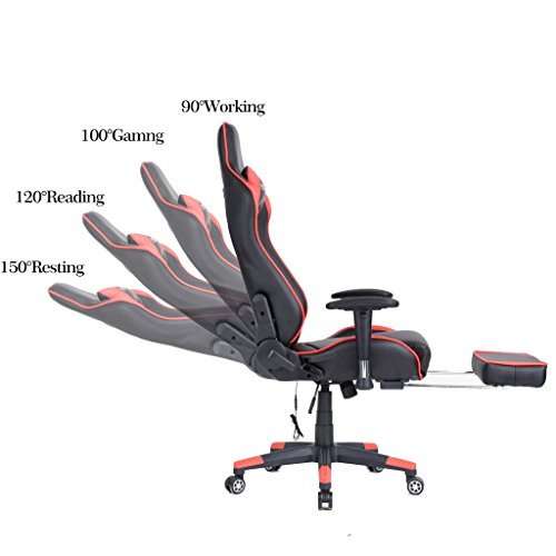Ficmax Large Size Executive Racing Style Computer Gaming