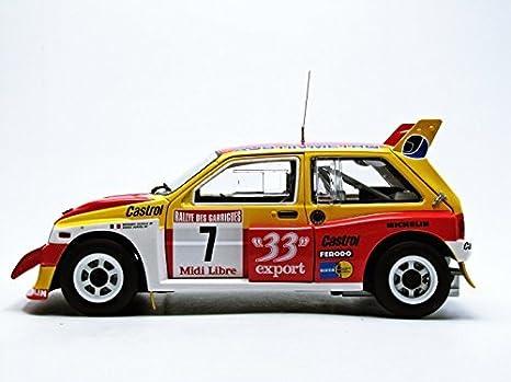 Amazon.com: LJP Corporation SunStar 1/18 MG Metro 6R France 1986 # 7: Toys & Games