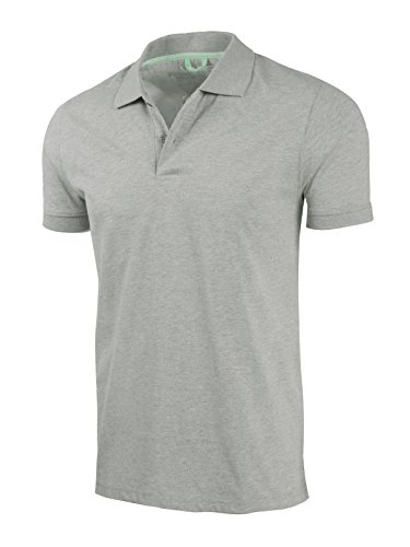 - Marq 75 Slim Fit Jersey Polo Shirt - Heather Grey, Large