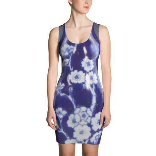 AMERIQUE Collection Hand Cut and Sew Silk Fabric Ladies Sleeveless Dress, A Truly Personal Luxury Experience, Limited Edition by AMERIQUE