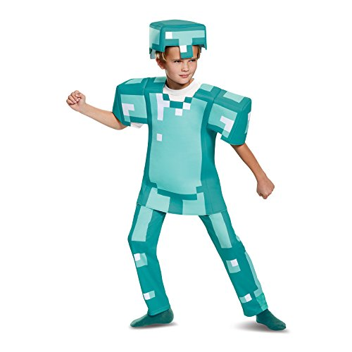 Armor Deluxe Minecraft Costume, Blue, Small (4-6)