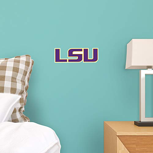 FATHEAD NCAA LSU Tigers - Logo Teammate- Officially Licensed Removable Wall Decal, Multicolor, Big