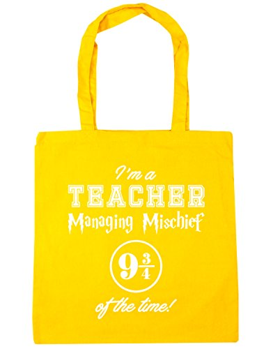 10 Shopping x38cm Quarters Gym The A Tote 42cm Yellow Bag I'm Of Beach Managing 9 HippoWarehouse Mischief Time And litres 3 Teacher W4HAOwqS8O