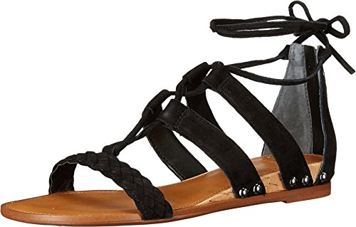 Franco Sarto Women's Pierson Black Kid Suede Sandal 8 M - Kid Suede Womens Sandals