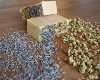 Organic Chamomile & Lavender Shea Butter CP Soap Making Kit 2 Lbs.