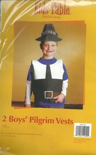 Thanksgiving Fall Kids Table Boys Pilgrim Vests Party Celebration Dinner 2 Pk