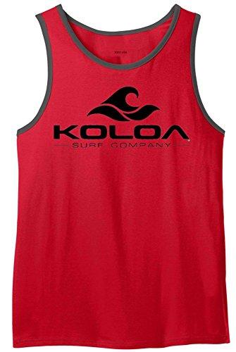(Koloa Surf Co. Wave Logo Ringer Tank Tops in Size -XS)