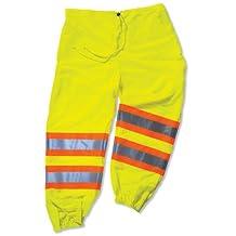 Ergodyne GloWear 8911 Two-Tone High Visibility Safety Pants, Lime, 4X-Large/5X-Large