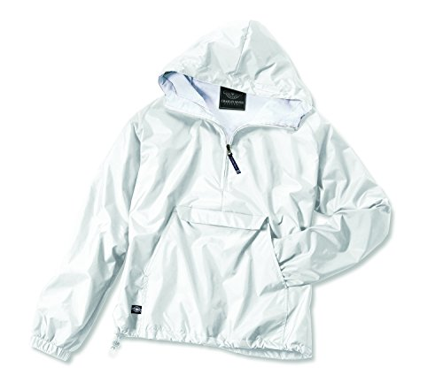 (Charles River Apparel Women's Front Pocket Classic Pullover - White, Medium)