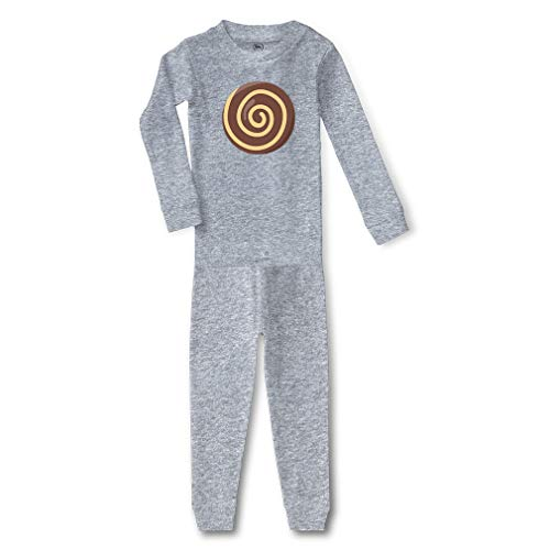 Chocolate Swirl Cookie Cotton Crewneck Boys-Girls Infant Long Sleeve Sleepwear Pajama 2 Pcs Set Top and Pant - Oxford Gray, 12 Months