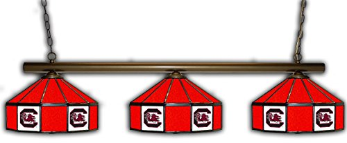 (Imperial South Carolina Pub Light w/Gamecocks Logo - 3 Shade Stained Glass)