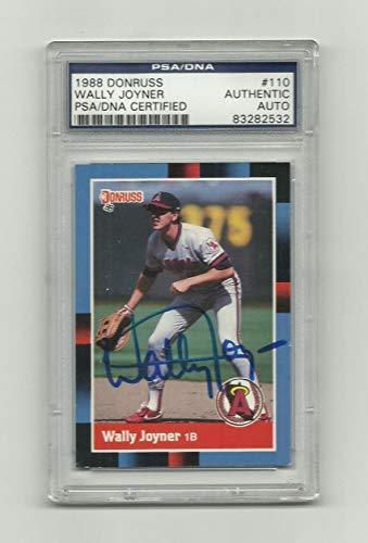 1988 Donruss Wally Joyner Card #110 Auto Autograph Autographed Signed Psa/Dna ()