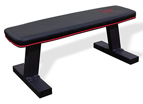 Marcy Deluxe Versatile Flat Bench Workout Utility Bench with Steel Frame SB-10510 by Marcy