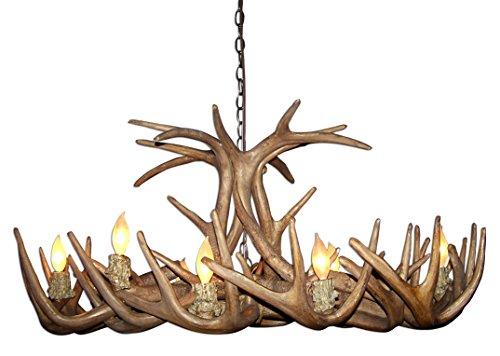 (Reproduction Antler Whitetail Deer Oblong Chandelier Light Xlarge)
