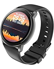 Colel Smartwatch, fitnessklocka för kvinnor, män, 1,3 tums armbandsur med pulsmätare, sömnanalys, stegräknare, kamerakontroll, IP68 vattentät fitness tracker sportklocka för IOS, Android (svart)