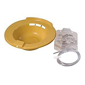 DMI Portable Bidet Sitz Bath, Smooth Contoured Plastic, Yellow