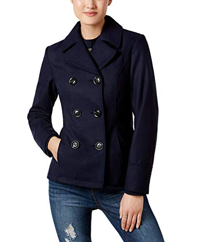 Celebrity Pink Midnight Blue Double-Breasted Peacoat M -