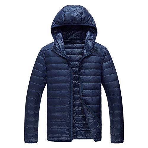 Casuale Piumino Cappuccio Con Youthup Maschile Blu Navy Caldo Leggero Inverno ffZaq1