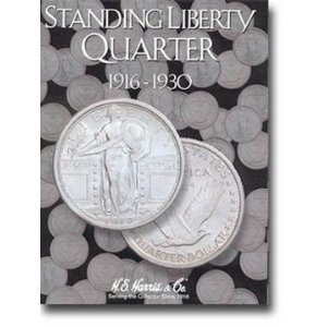 Harris Standing Liberty Quarters Coin Folder - Quarter Liberty 1964