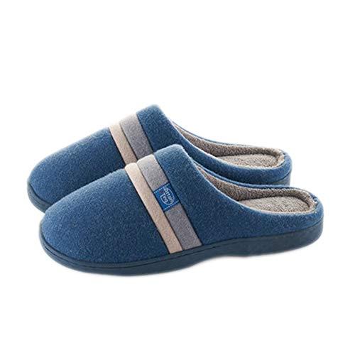 Hiver Molleton Soie Coton De Accueil Garder Chaud Intérieur Blue Antidérapant Unisexe Chaussure Mode Chaussons Pantoufle Coton gw5qBg