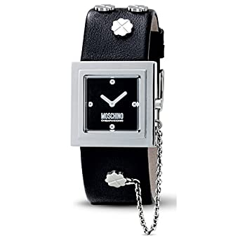 MOSCHINO-Damen-Armbanduhr IT'S LUCKY TIME 2H SS BLACK STRAP MW0082
