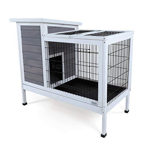 Petsfit Lapin intérieur Hutch, Bois Cage Lapin, lapin Hutch, couleur gris,  cage cochon d inde 97cm x 50cm x 86cm  Amazon.fr  Animalerie 13e49e5c7d62