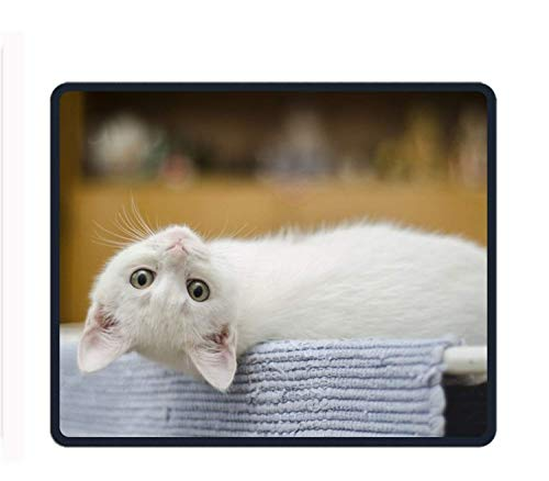 Roonyete Shop Endearing Kitty Mouse Pad/Mat Stitched Edges Non-Slip Rubber Mousepad 11.8/9.85/0.12