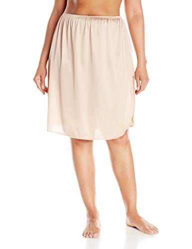 VASSARETTE Women's Full Figure Tailored Anti-Static Half Slip 11822, VASS Latte-24 Inch, (Vassarette Half Slip)