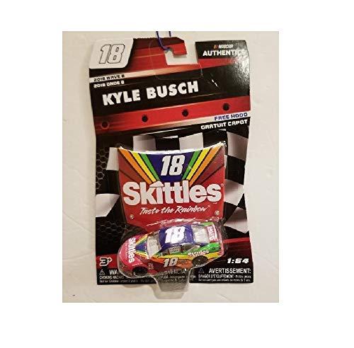 - Authentics Nascar Kyle Busch 2018 Wave 8 Skittles # 18 W/Hood