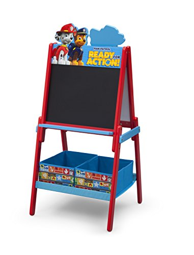 Delta Children Wooden Double Sided Activity Easel with Storage, Nick Jr. PAW Patrol (Paw Patrol Halloween Puzzle)