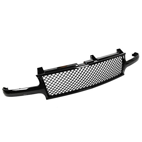 (Black Mesh Front Hood Grill Grille Cover Conversion For 99-02 Chevy Silverado/00-06 Tahoe)