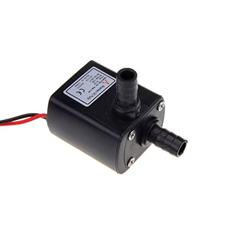 ANSELF - Bomba de Agua / Aceite / Lquido para Fuente Sumergible Acuario Circulacin Impermeable & Sin Cepillo (Max.Lift:4.5m,DC12V,9W,Mini micro): ...