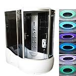 Bagno Italia Cabina idromassaggio angolare 170x90 con vasca massaggio plantare radio fm e cromoterapia I 41ge2srm4CL. SS150