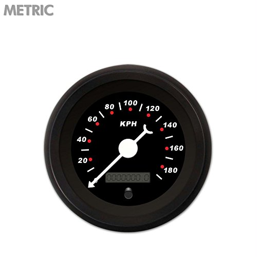 Aurora Instruments GAR118ZMXHACBD Modern Rodder Black Speedometer Gauge