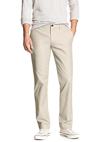 - Banana Republic Men's Emerson Fit Flat Front Chino Pants Deep Vanilla 29W x 32L