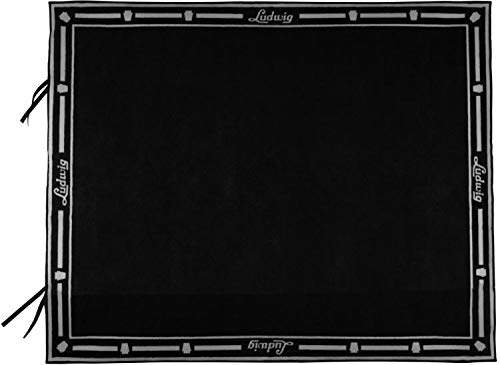 Ludwig Script Logo Non-Slip Drum Rug Mat, Black by Ludwig