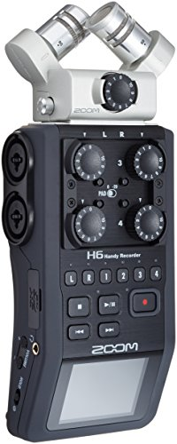 (Zoom H6 Six-Track Portable Recorder)