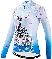 Weimostar Women's Cycling Jersey Long Sleeve Bike Jacket Biking Shirt Bicycle Clot