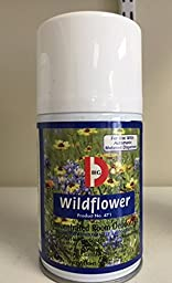 Big D 471 Metered Concentrated Room Deodorant, 7 oz Aerosol Refill, Wildflower Fragrance (Pack of 12)