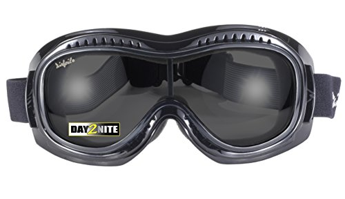 Pacific Coast Airfoil Padded 'Fit Over Glasses' Riding Goggles (Black Frame/Grey - Pacific Eyewear