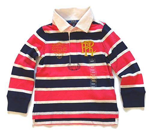 Ralph Lauren Polo Girls Long Sleeve Stripe Rugby Shirt Top Size 3T