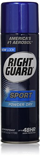 Right Guard Aerosol Sport Powder Dry Antiperspirant, 6 oz