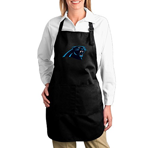 Hotel Chef Cotton Apron For Women Carolina Panthers Twill Cotton Baking Machine Washable Adults Cotton Apron Bibs Funny Gifts -