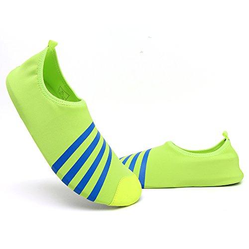 Schnell trocknende Aqua-Wasser-Schuhe Santiro Frauen-Männer für Strand-Pool-Brandungs-Yoga-Übung Grün 2