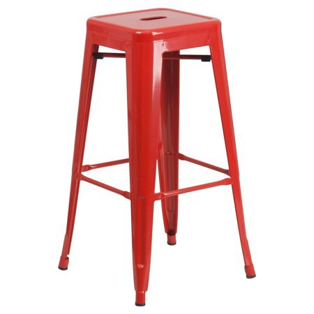 HOME HAVEN LLC High Backless Metal Barstool, Modern Industrial Appearance, Space-Saving Stool, Legs with Protective Rubber Feet, Extra Stability, Plastic Caps, Unique Design + Expert Guide by HOME HAVEN LLC