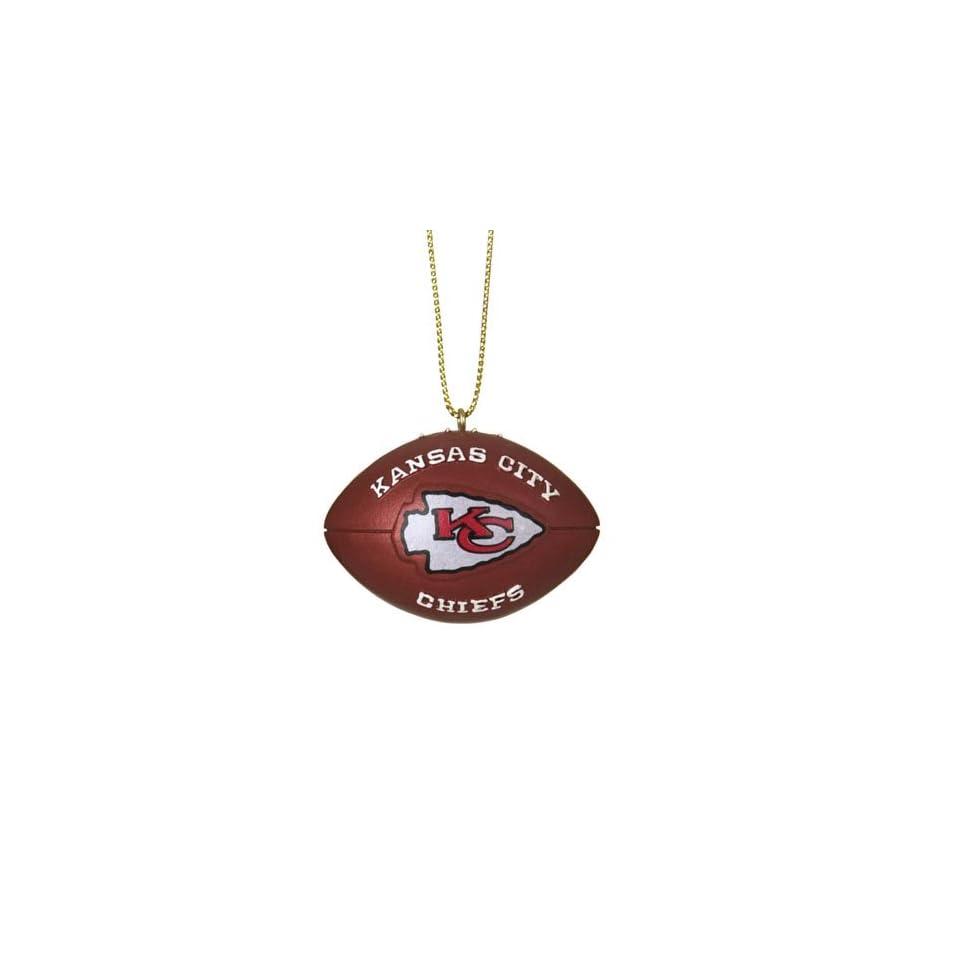 BSS   Kansas City Chiefs NFL Resin Football Ornament (1.75