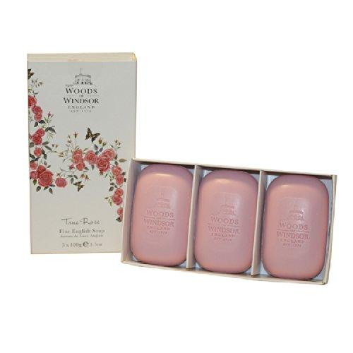 Woods of Windsor True Rose Fine English Soap for Women, 300 Gram