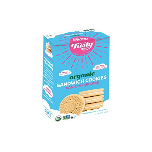 Tasty Brand Organic Sandwich Cookies, Vanilla Cupcake, 9.5 Ounce (Strawberry Layer Cake)